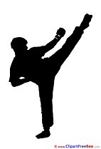 Kickboxer Logo Clip Art for free