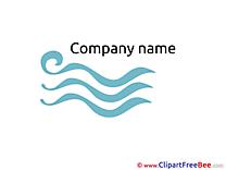 Waves Clip Art download Logo