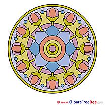 Meditation Clip Art download Mandala