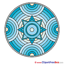 Religion Mandala Clip Art for free