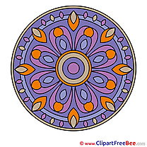 Religion printable Illustrations Mandala