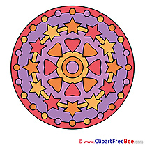 Universe printable Mandala Images