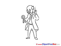 Drawing Doctor with Lollipop Clip Art download for free