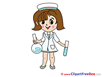 Flasks Nurse Clipart free Illustrations