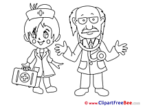 Girl Nurse with Doctor free printable Cliparts and Images