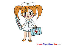 Medical Kit Nurse Clipart free Illustrations