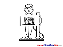 Radiogram Patient Clipart free Illustrations