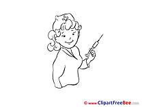 Syringe Nurse Pics download Illustration