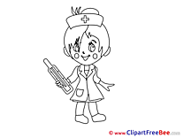 Thermometer Girl Cliparts printable for free