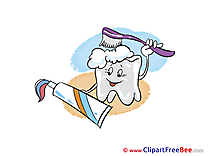 Toothbrush Toothpaste Tooth free Illustration download