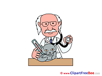 Vet Cat printable Illustrations for free