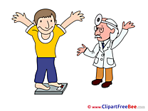 Weight Loss Man Doctor Pics printable Cliparts