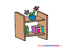 Bookshelf Clipart free Illustrations