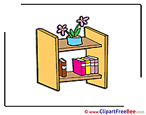 Bookshelf Flowers Books Pics download Illustration