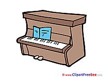 Piano Pics printable Cliparts