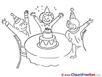 Anniversary Cake Children Clip Art download Party