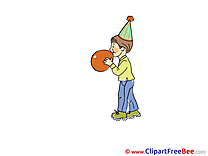 Balloon Boy Party Clip Art for free