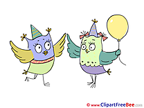 Balloon Owls Pics Party Illustration