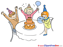 Children Cake Cliparts Party for free