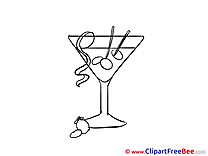Cocktail Clipart Party Illustrations