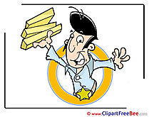 Delivery Pizza Clipart Party Illustrations