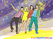 Disco printable Illustrations Party