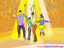 Discotheque Dances free Cliparts Party