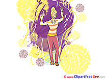 Drawing Woman Dancer Cliparts Party for free
