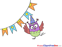 Flags Owl Clipart Party Illustrations