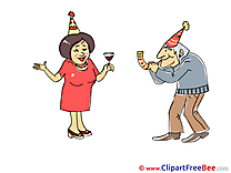 Happy Birthday Clipart Party Illustrations