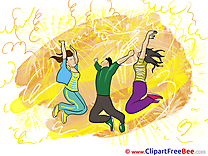 Jumping People Dances Party download Illustration