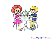 Kettle Tea Boy Girl download Clipart Party Cliparts