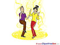Man Woman Dancers Pics Party free Cliparts