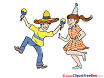 Mexican Hat Party free Images download