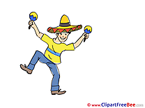 Mexican Man Clipart Party free Images