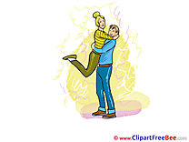 Necking Man Woman Clip Art download Party