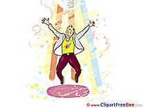 Party Jumping Man Dancer Clip Art download
