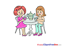 Tea Party Clip Art for free