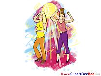 Women Dancers download Party Illustrations