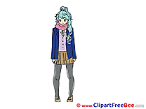 Anime Girl free Illustration download