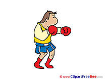 Boxer Man printable Illustrations for free