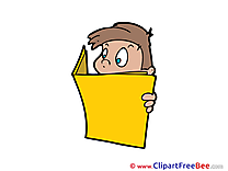 Journal Boy Clipart free Illustrations