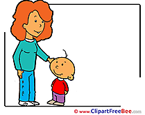 Mother with Son Pics free Illustration