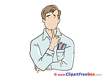 Notebook Man Clipart free Illustrations