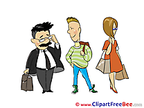 Queue People free Illustration download