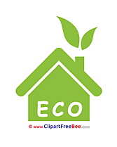 Eco House Cliparts Pictogrammes for free