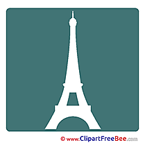 Eiffel Tower Pics Pictogrammes Illustration