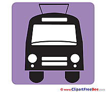 Trolleybus Clip Art download Pictogrammes