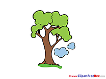 Clouds Tree Clipart free Illustrations