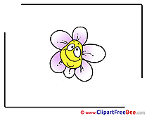 Drawing Flower Cliparts printable for free